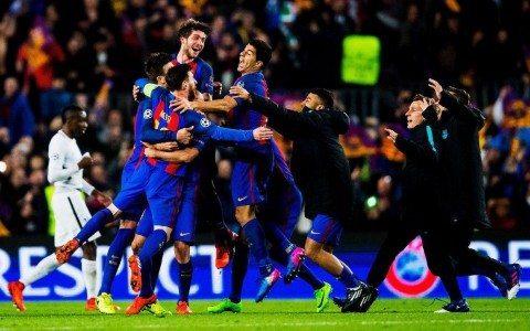 «Barselona» 0:3dan keyin 3 marta keyingi bosqichga yo'l olgan