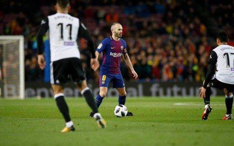 Ispaniya kubogi. «Barselona» dastlabki o'yinda «Valensiya»ni mag'lub etdi