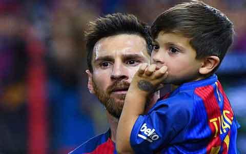 """Messi o'g'li bilan birga """"Real""""ni mag'lub etdi (rasmlar)"""