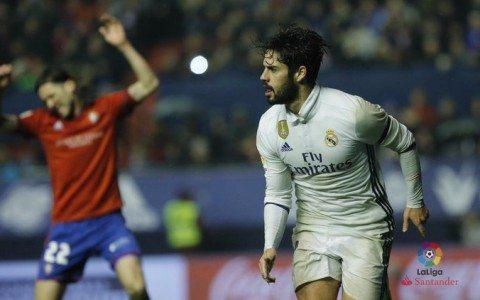 La liga. «Osasuna» - «Real» 1:3. O'yin statistikasi