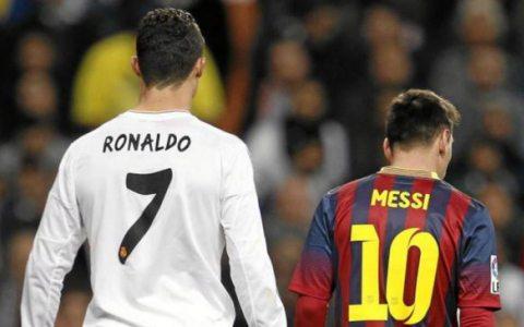 Ronaldu va Messi orasidagi farq bir fotosuratda